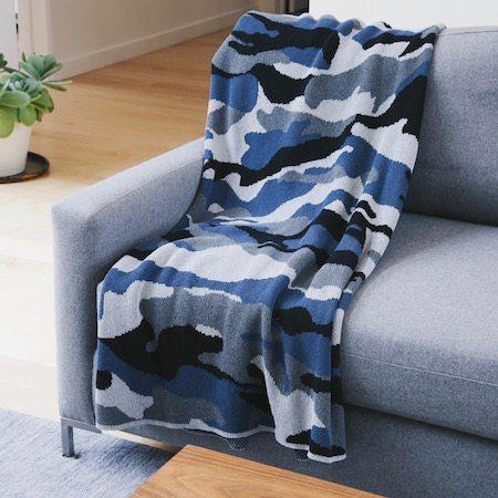 blue camo blanket