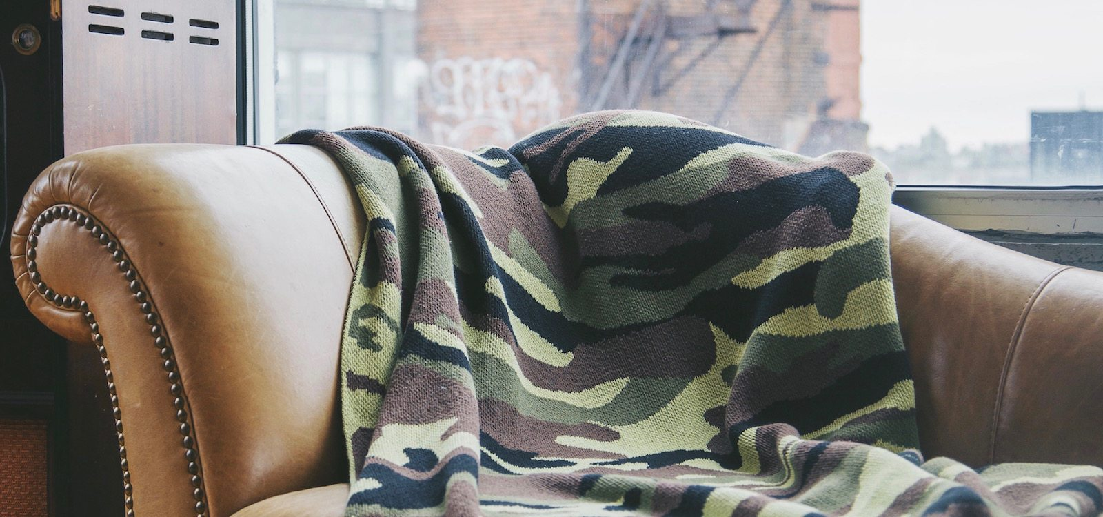 camo print blanket